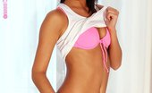 Only Cuties Kamille - Cheeky Striptease Fit Brunette Hottie Slowly Undresses And Uses Glass Dildo