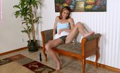 Only Cuties Nadia - Dildo Dazzler Cute Teen Flirtatiously Strips And Dildos Shaved Wet Twat