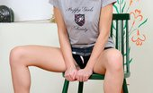 Only Cuties Chanelle - Innocent Fingering0 Innocent Brunette Teen Spreads And Fingers Twat On Chair