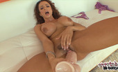 Stretched Out Snatch Ariella Ferrara Busty Brunette Ariella Ferrara Pleasures Her Fuck Hole With Fat Dildo