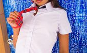 Lily Koh Blue Door NN Sexy Teen Lily Koh Dressed In Red Plaid Schoolgirl Outfit