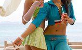 Lily Koh Share A Coke NN Lily Koh And Joon Mali Have Fun Showing Panties Upskirt