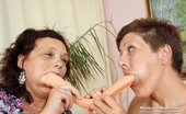 Mom Loves Mom Garyna Older Shorthaired Woman Lesbian Action With Other Mamma