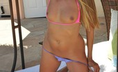 My Sex Life Lori In Pink & Purple Bikini Lori Anderson Rocks The Hell Out Of A Pink And Purple Butterfly Bikini Outdoors