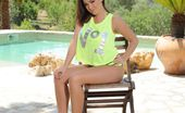 Jodie Gasson Jodie In Bright Green Bikini By Pool