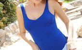 Lucy Anne Blue Bodysuit W/ Denim Shorts