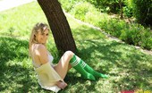 Summer St. Claire Summer In Green Socks And Lingerie