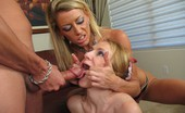 Moms Teaching Teens ChelseaJanie Mom Chelsea Teaches Teen Janie How To Swallow Cock
