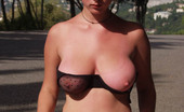 Busty Teens Natasha Super Cool Blonde Sweet Teen With Hot Fit Body And Large Yummy Natural Gazongas Poses In The Public