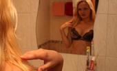 Busty Teens Birgit Blonde Angel With Indescribable Hot Big Knockers Poses In Bathroom