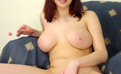 Busty Teens Debra Slim Redhead Teen With Natural Amazing Big Boobs Getting Nude And Playing With Lollipop