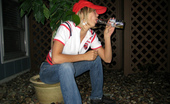 Teen Kasia Pictures Of A Drunk Hot Blonde Peeing In The Backyard