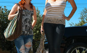 Teen Fidelity A Hot Ginger Teen And Kelly A Sexy Busty MILF Share A Monster Dick And Both Cream All Over It.