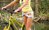 Pinky June Sweet And Natural Teen Pinky June Gets Undressed During Bike Ride