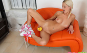 Pinky June 18yo Teen Pinky June Inserting A Funny Duck Toy In Pussy