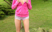 Pinky June Lovely Teen Pinky June Posing Naked Outdoors