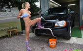 Pinky June Czech Teen Sensation Pinky June Washing Car Naked