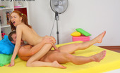 Try Teens Kristine Bald Pussy Teen Rides A Big Cock