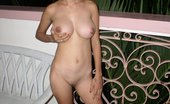 Teen Filipina Melon Breasted Alma Stripping Off On The Patio