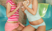 Teen Pink Videos Bridget & Mia Hamilton Blonde Lesbian Teens Licking Each Others Pussies And Fucking Each Other With Their Dildo'S