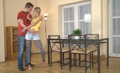 18 Stream Aniela & Marek On Photo Most Of The Time It`S Dinner That`S Ate On This Glass Dinning Room Table, But Tonight, This Lucky Stud Is Enjoying A Delicious Teen Pussy.