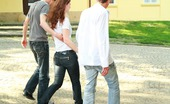 18 Stream Izabella & Daniel This Redhead Teen Looks So Sweet And Innocent, But She Was More Than Willing To Go Home With Two Studs And Take Care Of All Of Their Needs In The Bedroom Today.