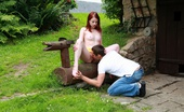 18 Stream Jarmila & Aleksej Out In The Backyard, This Redhead Nympho Lets Her Lover Explore All Of Her Body. He Uses His Hands, His Mouth And Of Course His Rock Hard Cock To Explore Her Tender Body.