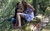 18 Stream Iva & Kristof In The Middle Of The Woods, This Bubbly Teen Takes Off Her Clothes And Feel His Cock Growing Hard Inside Of Jeans. She Soon Unzips His Cock And Takes It Out So That She Can Have It.