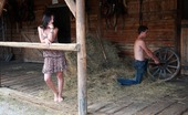 18 Stream Irenka & Karol She Looks So Cute, But This Brunette Hottie Wants Him To Bound Her Together With The Leather Straps That They Find On This Farm. She Likes To Lose Control.