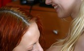 Teen Sleepover Hot Lesbian Foursome Stunning Cute Redhead Licking And Kissing Juicy Pink Shaved Pussy