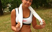 Teen Sleepover Sian & Misty 393515 Jogging Makes Misty Horny. It Makes Her Hot & Sweaty And Clit Wet