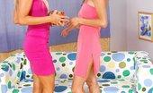 Teen Sleepover Sexy Jennifer & Sandra Lesbian Jennifer Brought Gaint Dildo For Her Girlfriends Birthday