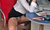 Secretary Pantyhose Sibylla Voluptuous Secretary Slipping Into Pantyhose To Fondle Her Succulent Pussy