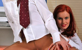 Secretary Pantyhose Barbara & Mia Red Hot Secretary Babes In Control Top Pantyhose Tongue-Polishing Pussies
