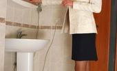 Secretary Pantyhose Elsa & Rudolf Cock-Craving Secretary In Tan Pantyhose Getting To Wild Fucking Right In WC