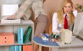 Secretary Pantyhose Julia & Antoinette Steamy Secretary Babes In Lacy Tights Revealing Wild Side During Lunch Hour
