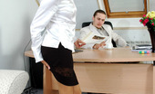 Secretary Pantyhose Jozy & Mike Kinky Boss Craving To Pick Under The Skirt Of His Secretary In Silky Tights