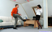 Secretary Pantyhose Amelia & Peter Sizzling Hot Secretary In Black Pantyhose Getting Nailed Right On The Floor