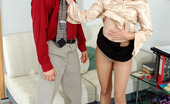 Secretary Pantyhose Nellie & Gilbert Naughty Secretary In Barely Visible Pantyhose Giving Breathtaking Blowjob