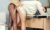 Secretary Pantyhose Mirabel & Adam Nasty Secretary In Black Hose Getting To Facesitting Punishing Disloyal Guy
