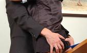 Secretary Pantyhose Trinity & Roger Nasty Secretary In Black Hose Getting Her Crotch Licked Before Wild Fucking