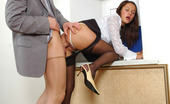 Secretary Pantyhose Jozy & Oscar Salacious Secretary Giving Vigorous Pantyhosejob Before Fucking From Behind
