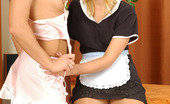 Secretary Pantyhose Sheila & Renee French Maids Prefer Pleasuring Each Other Without Taking Off Lacy Pantyhose