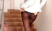 Secretary Pantyhose Regina & Bobbie Awesome Sec In Expensive Pantyhose Revealing Fucking Talents On The Stairs