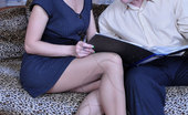 Secretary Pantyhose Rosa & Bertram Leggy Secretary Gets Her Elegant Patterned Tights Creamed After Quick Sex
