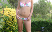 Teen Girl Photos TGP Misty Is A Blonde Lollipop Teen Misty May Posing Outdoors With A Red Lollipop And Not Much Else