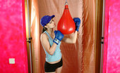 Teen Art Club Sasha Boxing 397898 Brunette teen boxer Tall Teen Girl In Boxing-Gloves Feeling Hot And Stripping Everything Off
