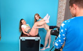 Jizz On Teens Lora And Jazzy Seduce Cameraman Two Young Cuties Sucking On A Bulging Cock After A Hot Lesbian Scene With Deep Anal Toying