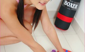 88 Square 401592 Jennifer Cuddles Her Pussy With Boxing Gloves