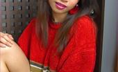 88 Square Beautiful Amara Bhunawat Rocks Red Sweater